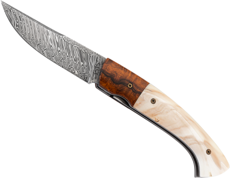 Africa IronWood - smooth Warthog folding knife