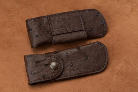 Belt holsters Chocolate Ostrich Leather Knife Case