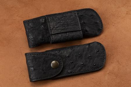 Belt holsters Black Ostrich Leather Knife Case