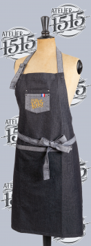 Attitude 1515  Kitchen apron in Jean Atelier 1515